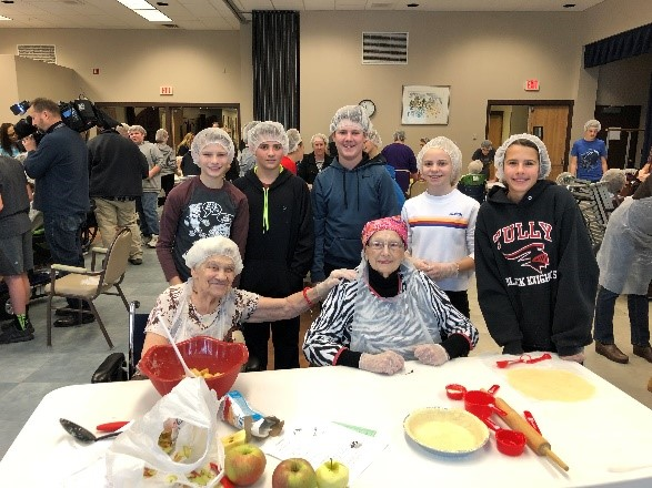 Students Pies Elderly